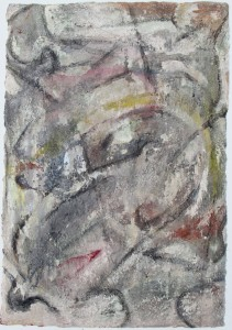 333. 'country matters', mixed media on paper, 31x22ins, 1981