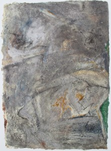 334.  'over the hills and far away', mixed media on paper, 31x22ins, 1981