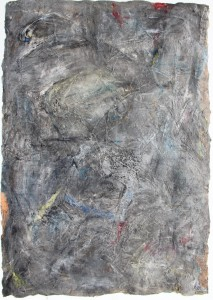 337.  'surfing a depth', mixed media on paper, 31x22ins, 1981