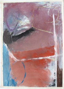 338.  'why on earth', mixed media on paper, 31x22, 1980