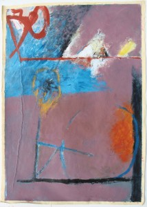 339.  'to see through', mixed media on paper, 31x22ins, 1980
